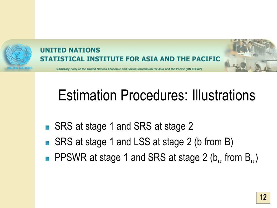 Estimation Procedures: Illustrations