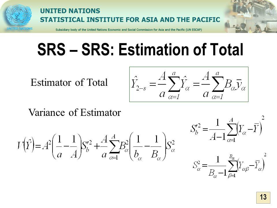 SRS – SRS: Estimation of Total