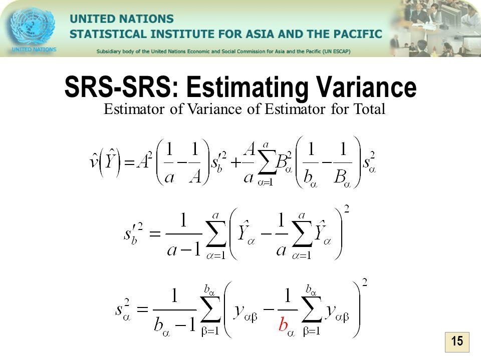 SRS-SRS: Estimating Variance