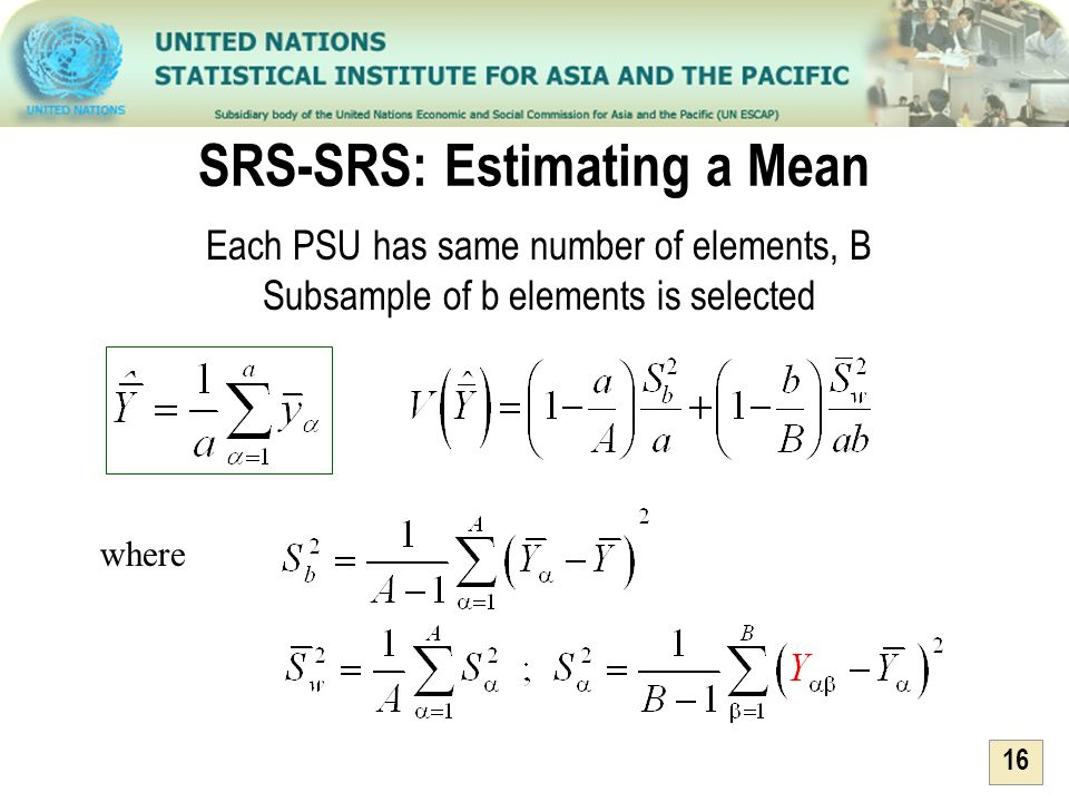 SRS-SRS: Estimating a Mean