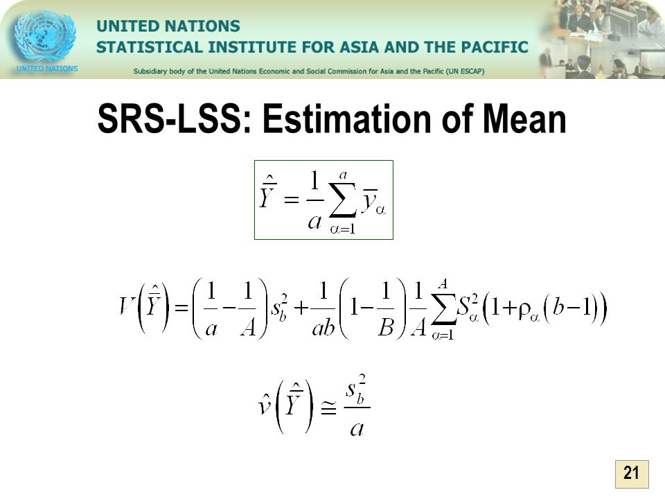 SRS-LSS: Estimation of Mean