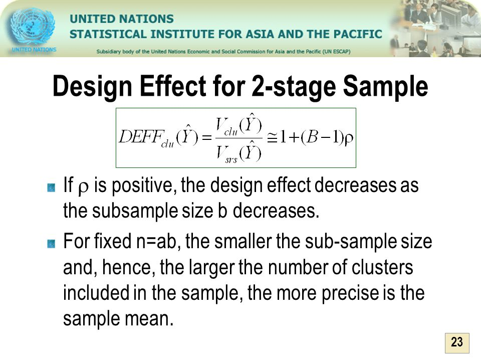 Design Effect for 2-stage Sample