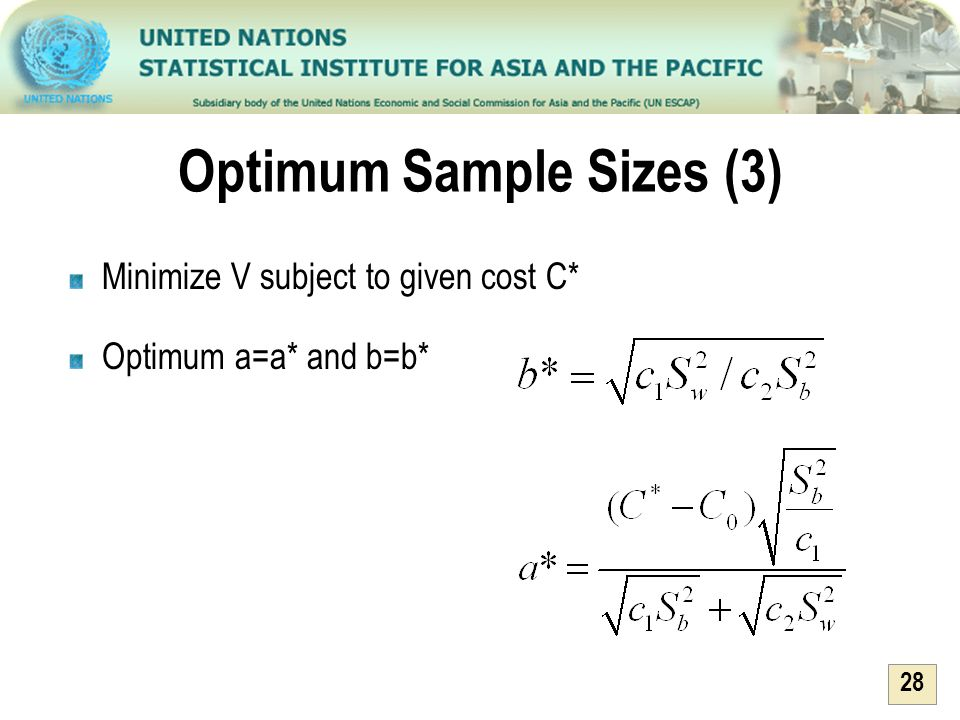 Optimum Sample Sizes (3)