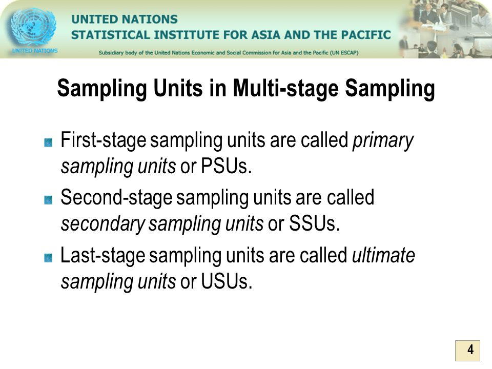 Sampling Units in Multi-stage Sampling