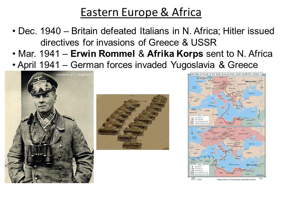 Eastern Europe & Africa