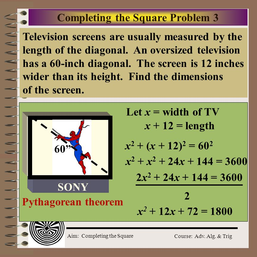 Completing the Square Problem 3
