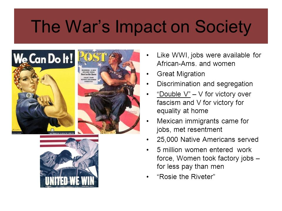 The War's Impact on Society
