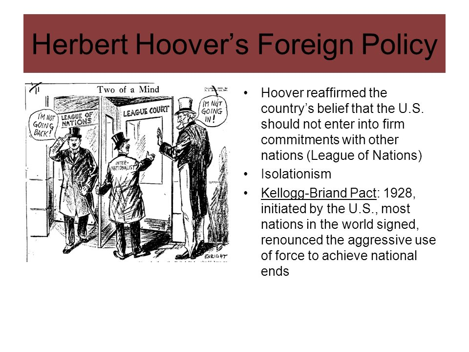 Herbert Hoover's Foreign Policy