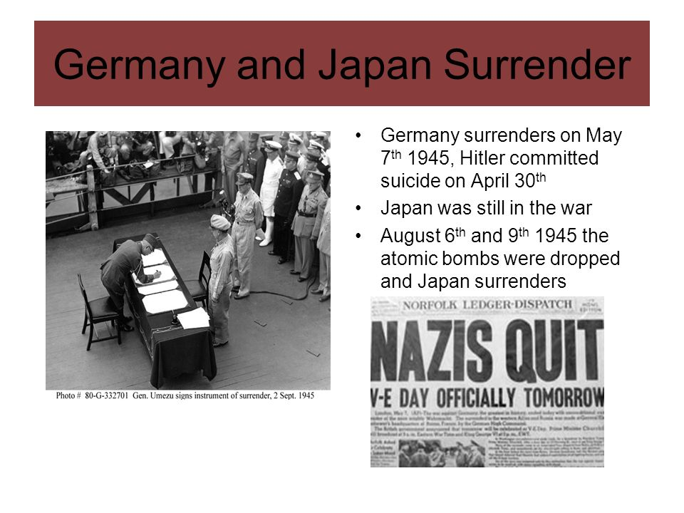 Germany and Japan Surrender