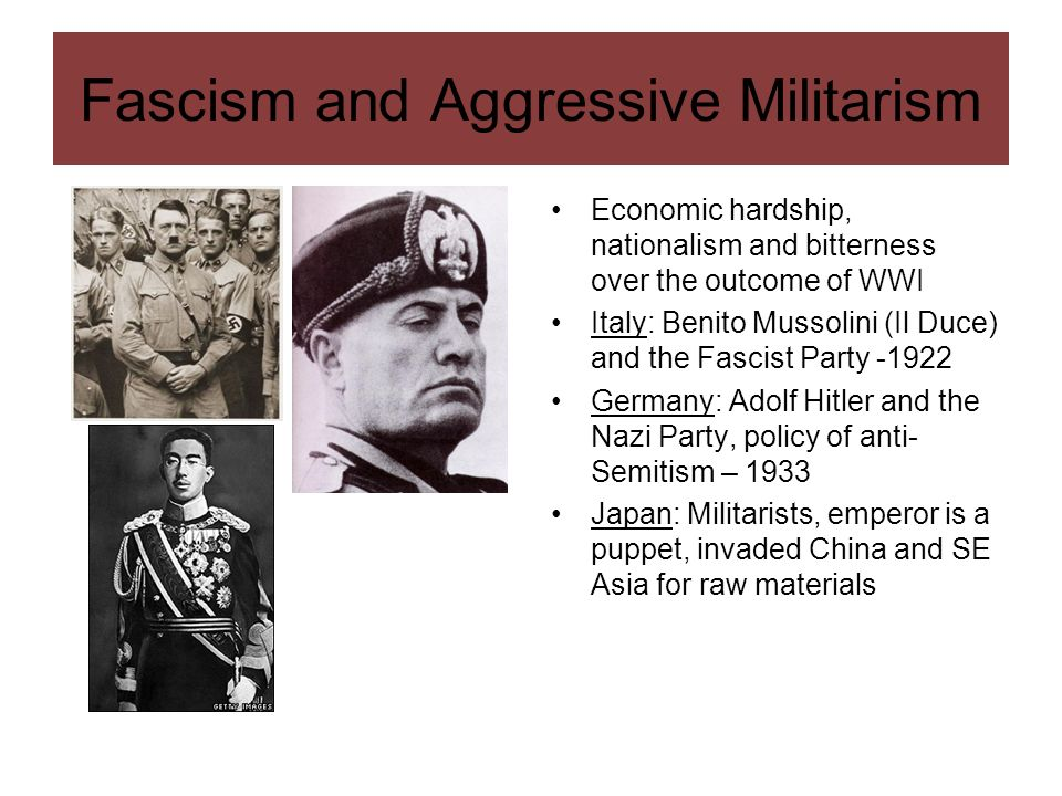 Fascism and Aggressive Militarism