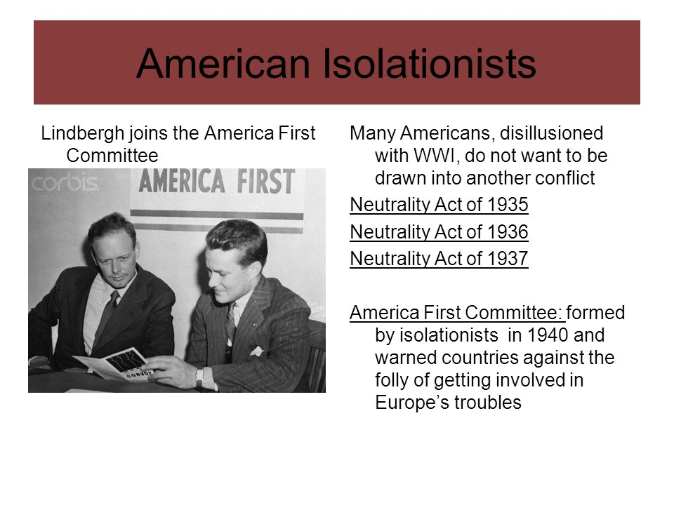 American Isolationists