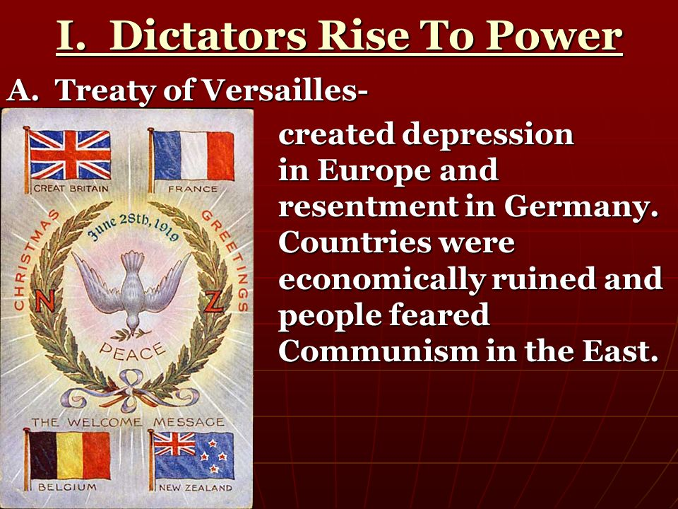 I. Dictators Rise To Power