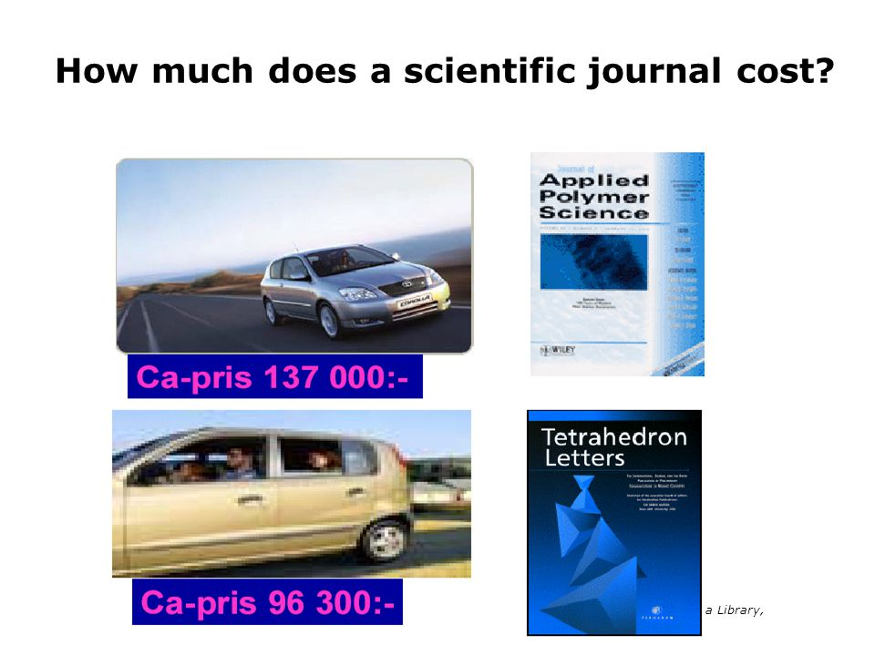 How much does a scientific journal cost