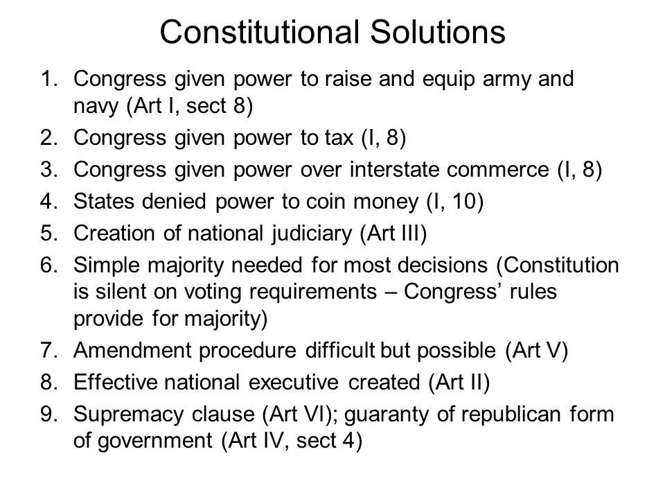 Constitutional Solutions