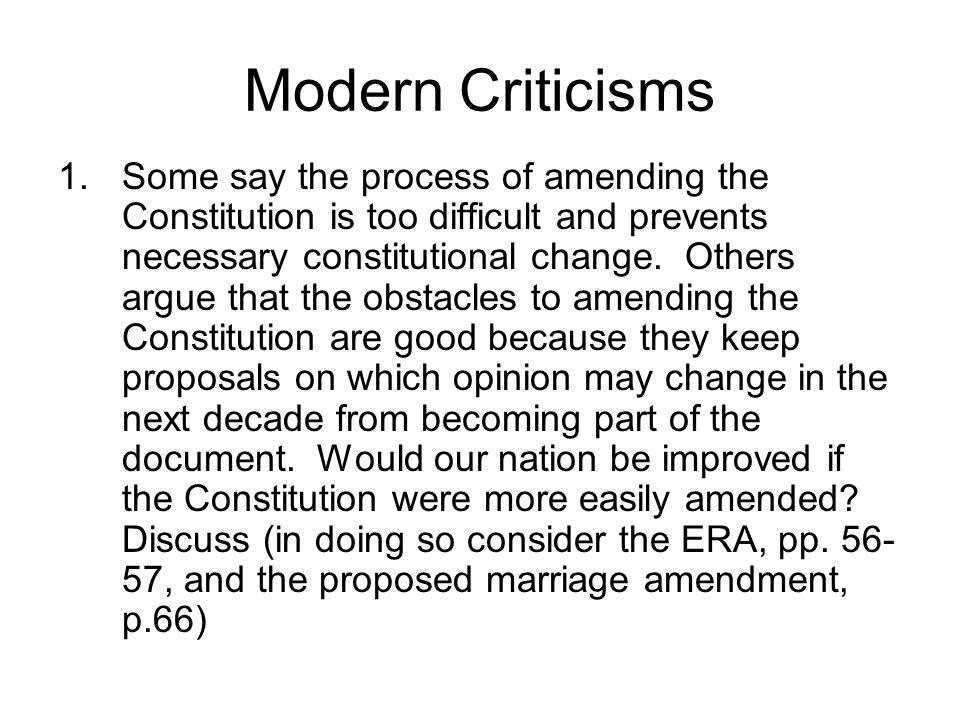 Modern Criticisms
