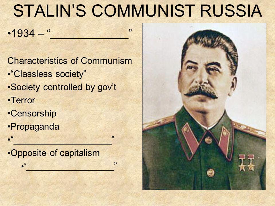 STALIN'S COMMUNIST RUSSIA