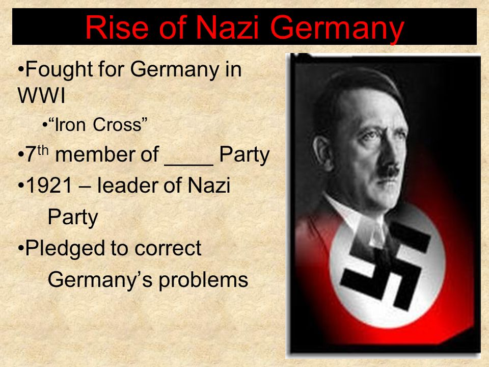 Rise of Nazi Germany Fought for Germany in WWI