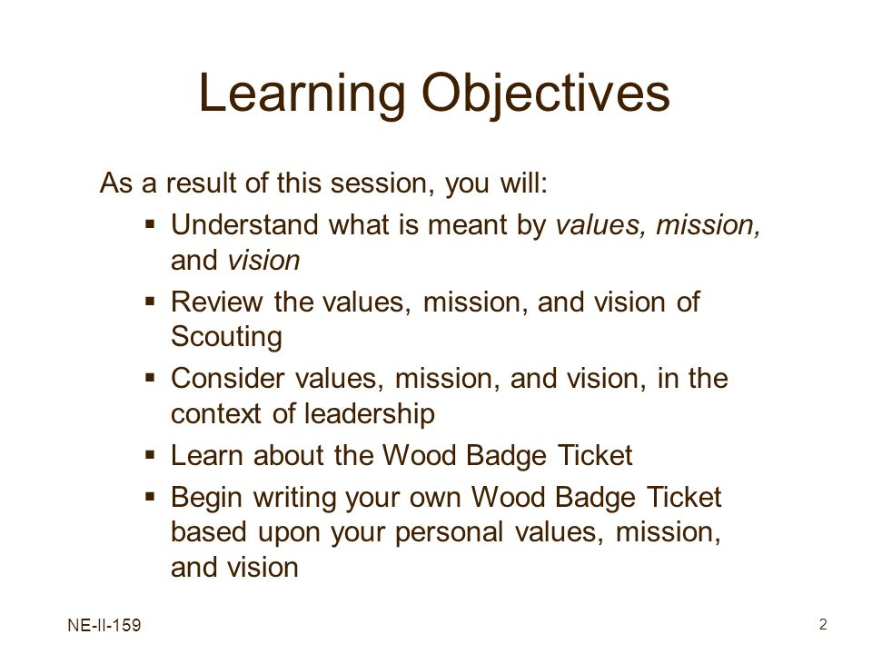 Learning Objectives As a result of this session, you will: