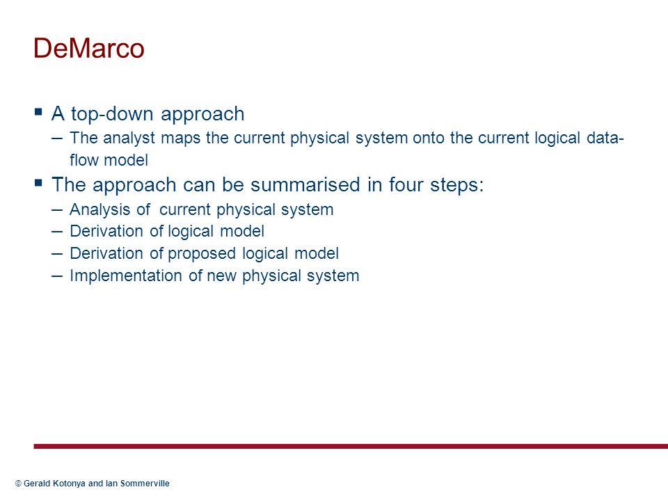 DeMarco A top-down approach