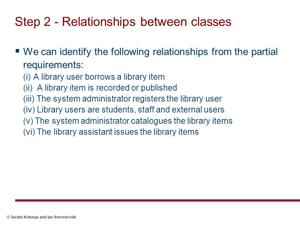 Step 2 - Relationships between classes