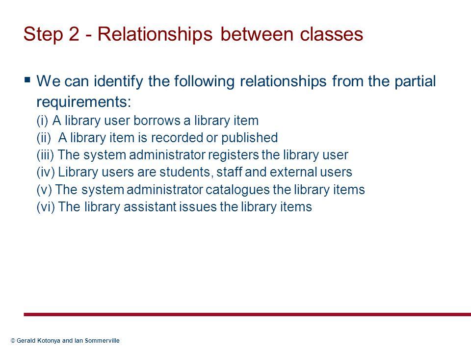 Step 2 - Relationships between classes
