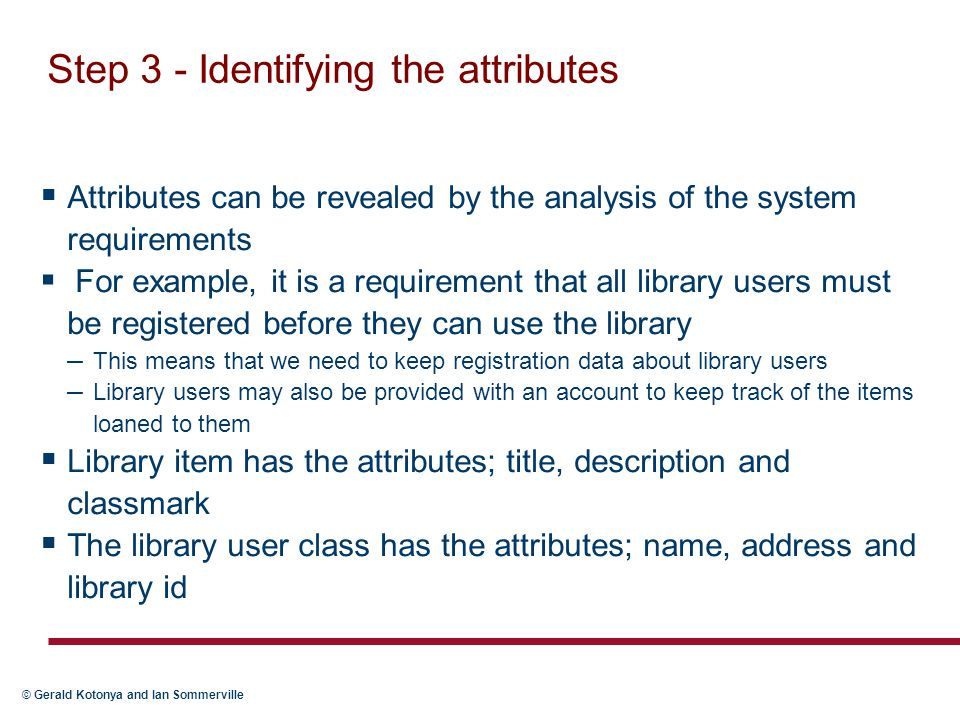 Step 3 - Identifying the attributes
