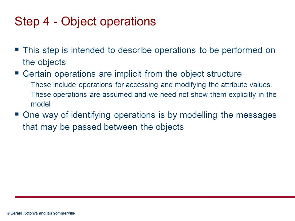 Step 4 - Object operations