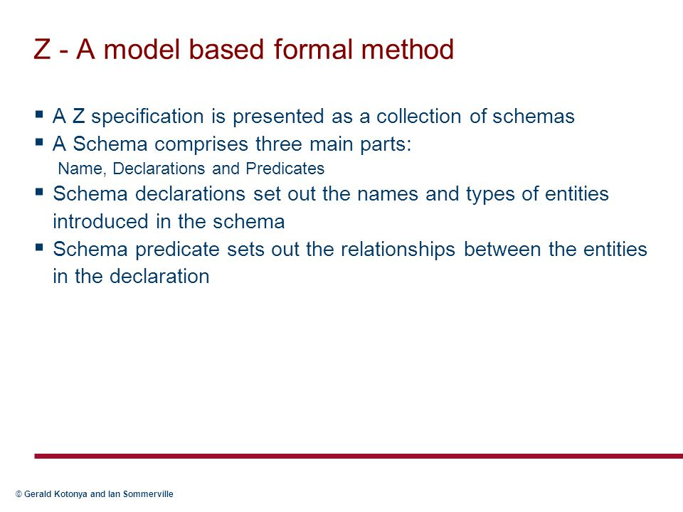 Z - A model based formal method