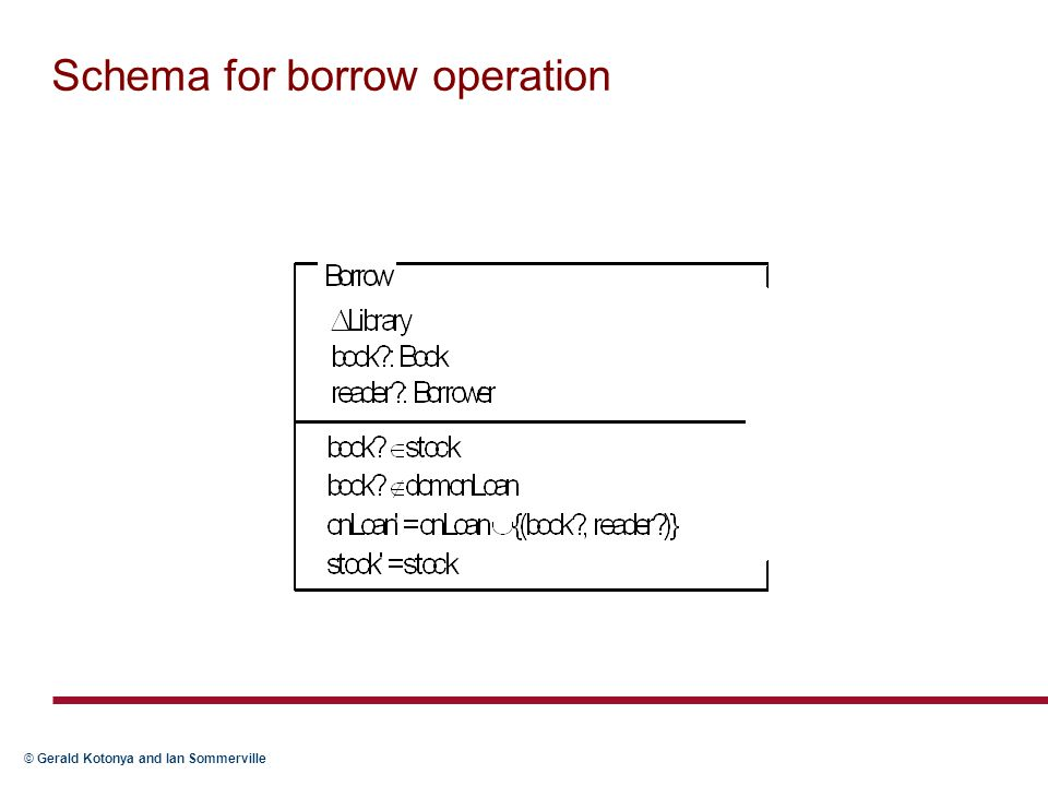 Schema for borrow operation