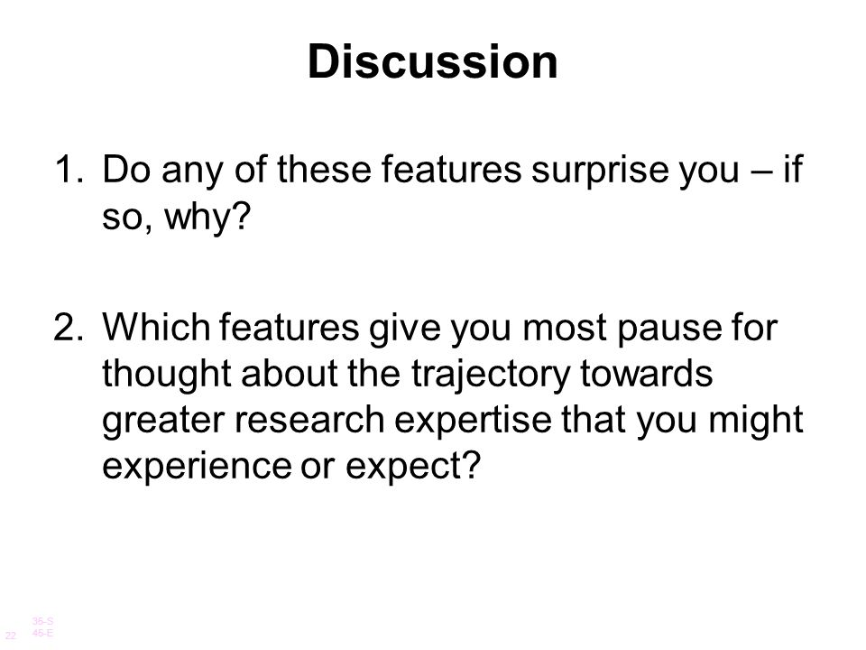 Discussion Do any of these features surprise you – if so, why