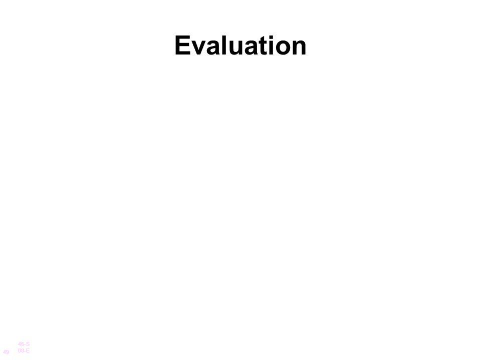 Evaluation 45-S 00-E 49
