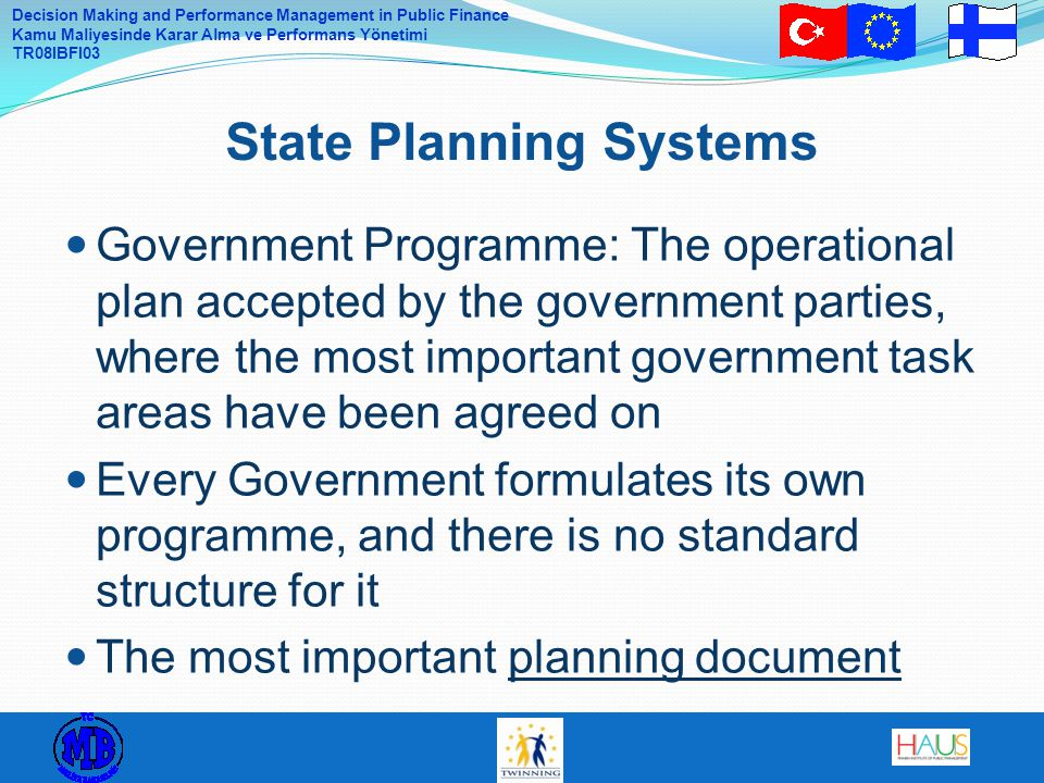 State Planning Systems