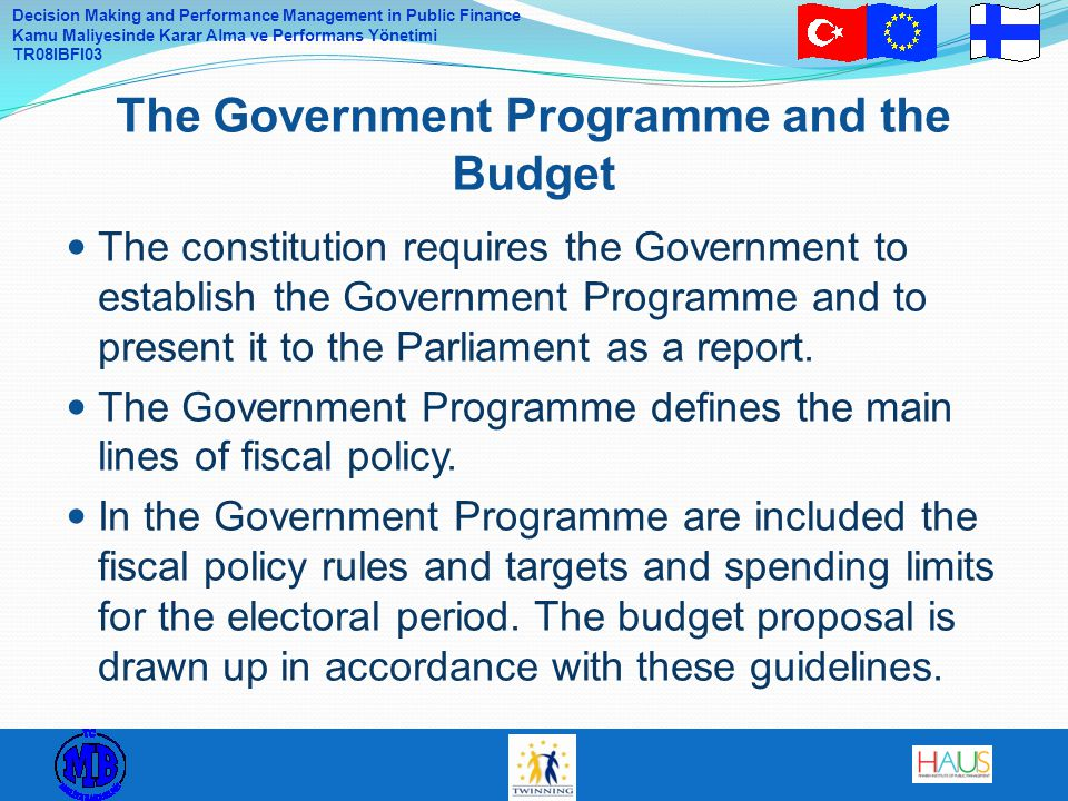 The Government Programme and the Budget