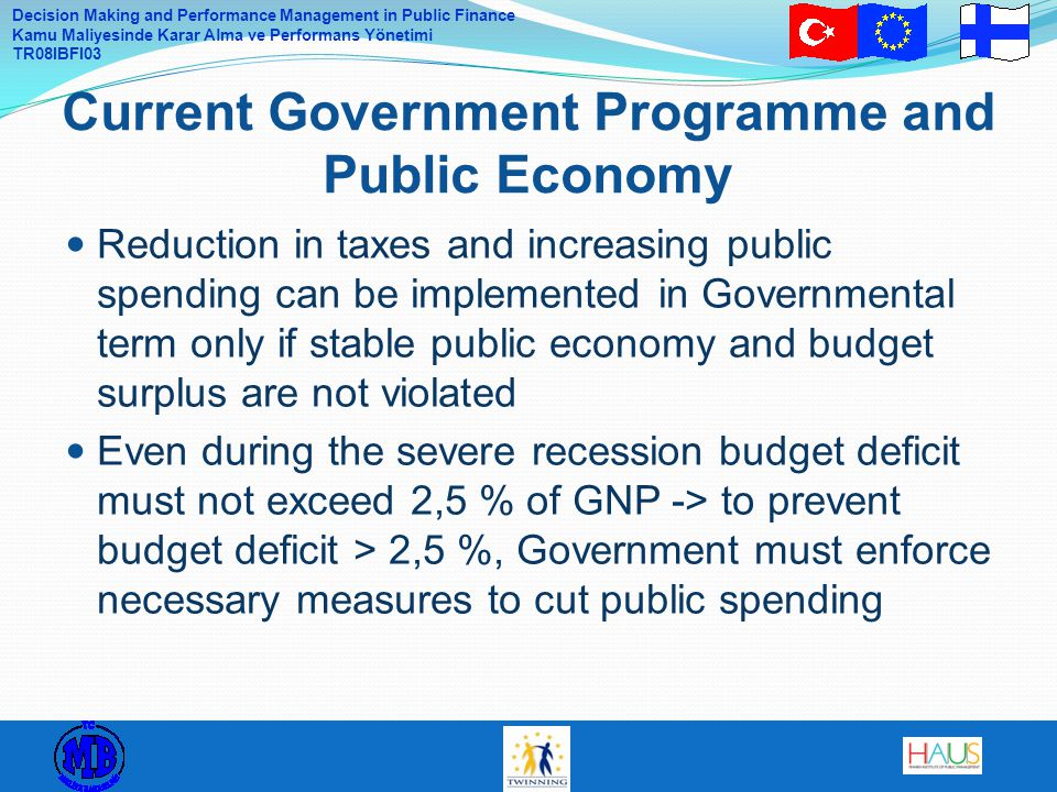Current Government Programme and Public Economy