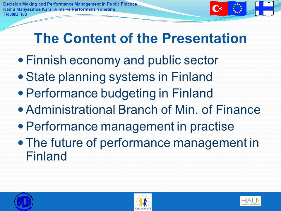 The Content of the Presentation