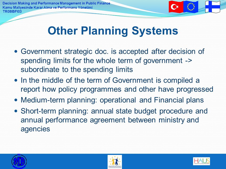 Other Planning Systems
