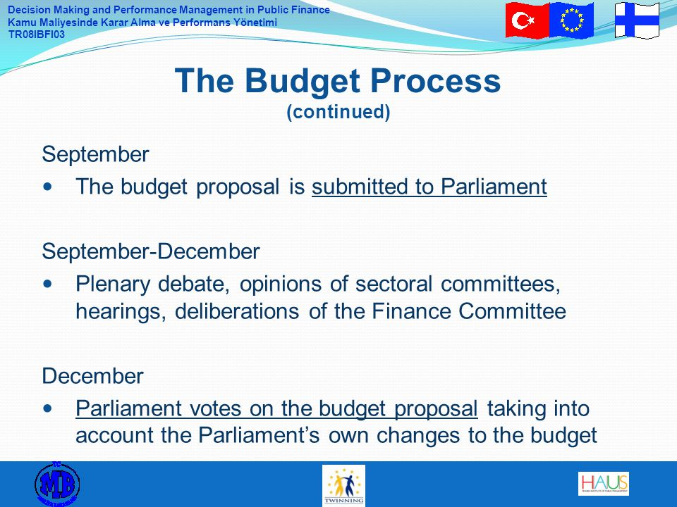 The Budget Process (continued)