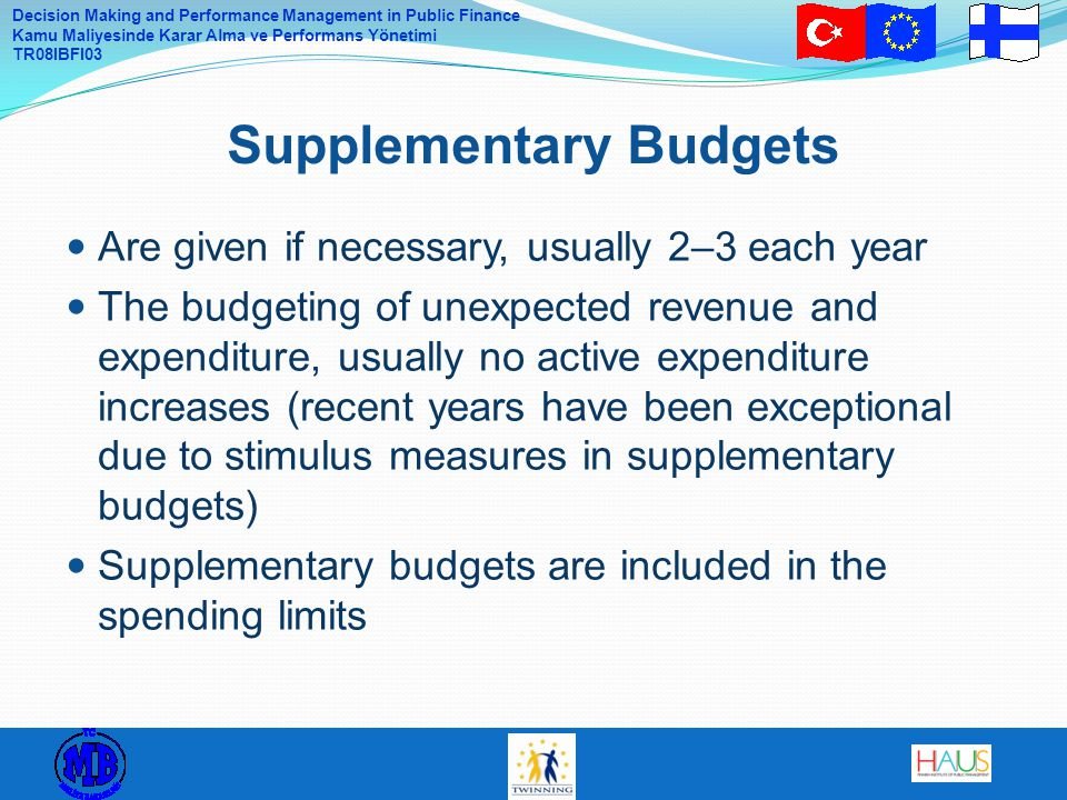 Supplementary Budgets