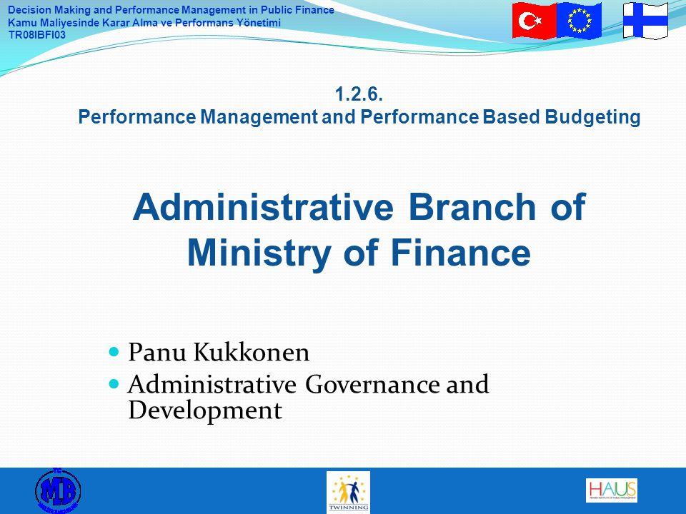 Panu Kukkonen Administrative Governance and Development