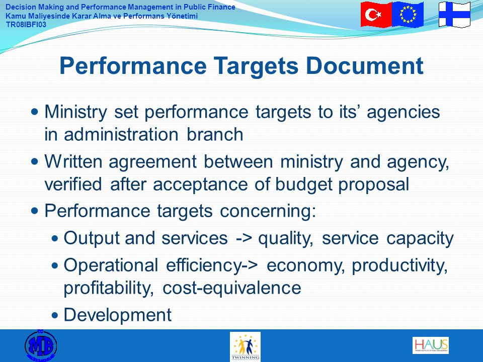 Performance Targets Document