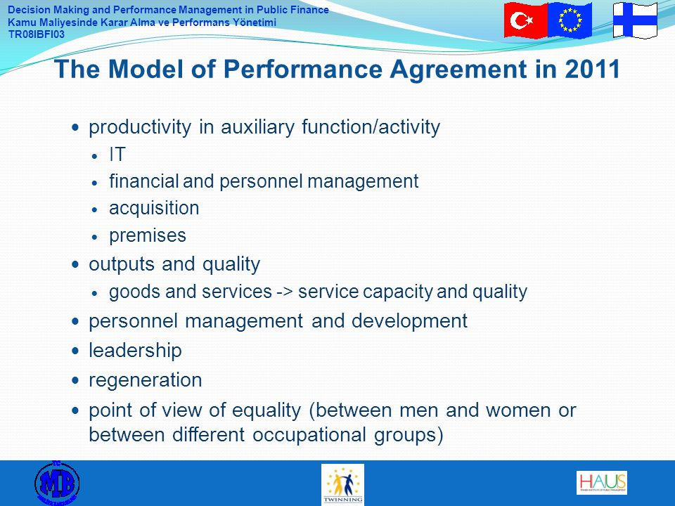 The Model of Performance Agreement in 2011