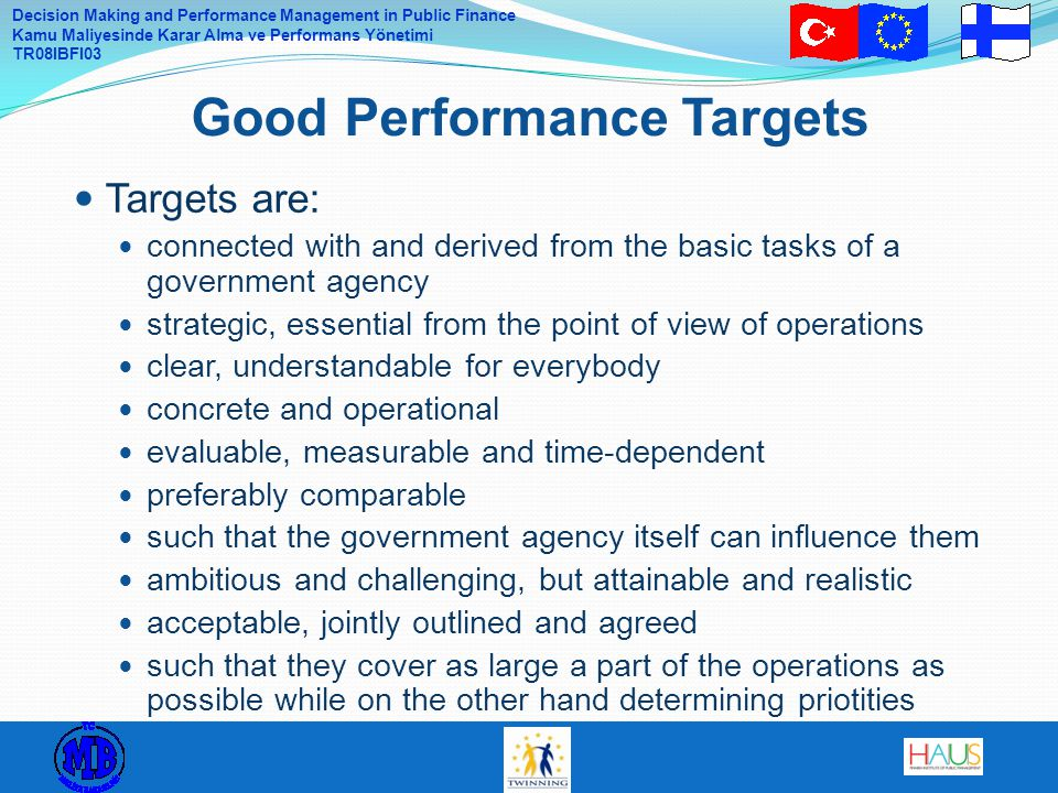 Good Performance Targets
