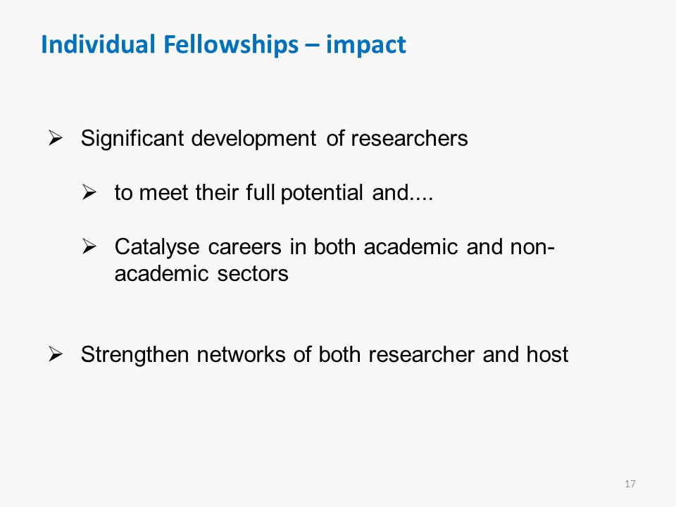 Individual Fellowships – impact