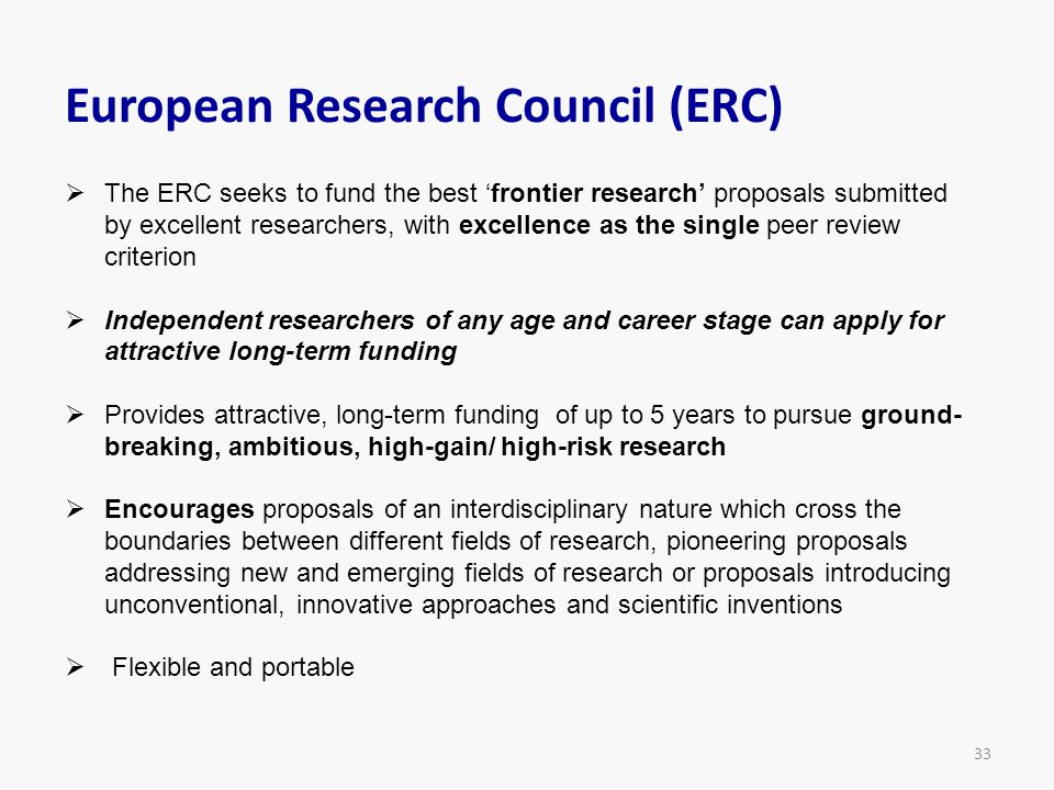 European Research Council (ERC)