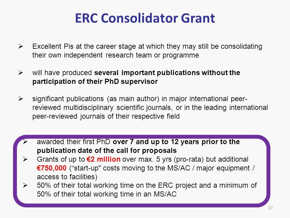 ERC Consolidator Grant