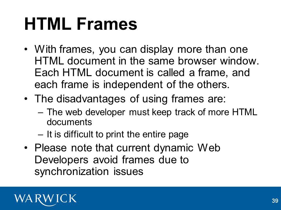 HTML Frames