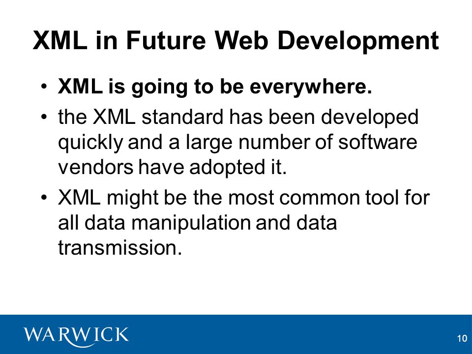 XML in Future Web Development