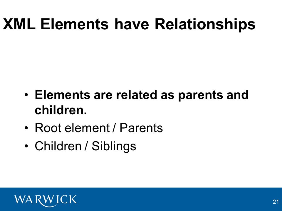 XML Elements have Relationships