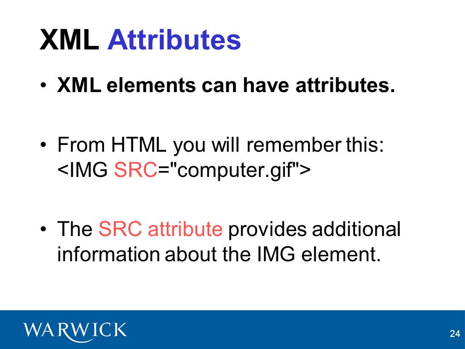 XML Attributes XML elements can have attributes.