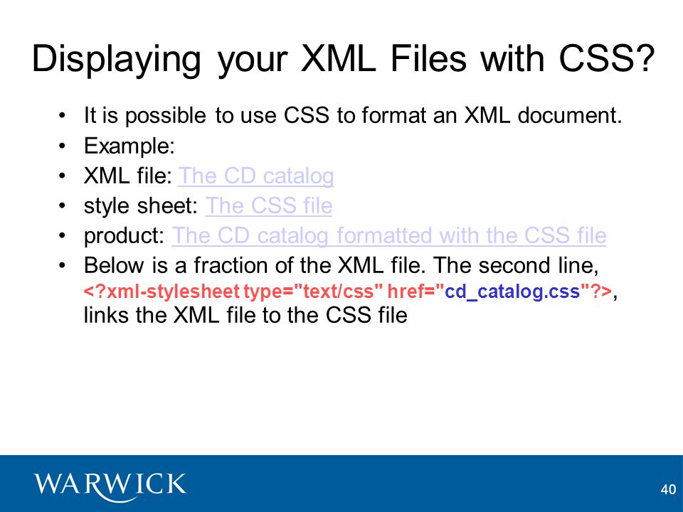 Displaying your XML Files with CSS